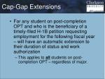 cap gap extensions