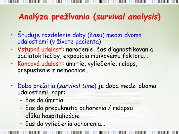 Anal za pre vania survival analysis