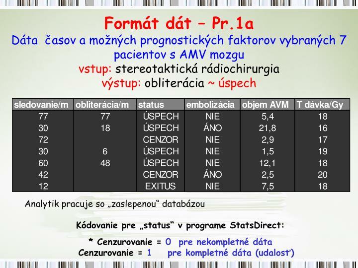 Formát dát – Pr.1a
