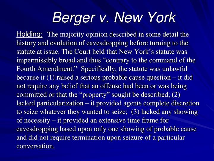 Berger v. New York