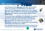 status meteosat programme