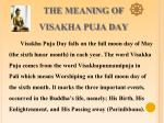 the meaning of visakha puja day