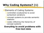 why coding systems 1
