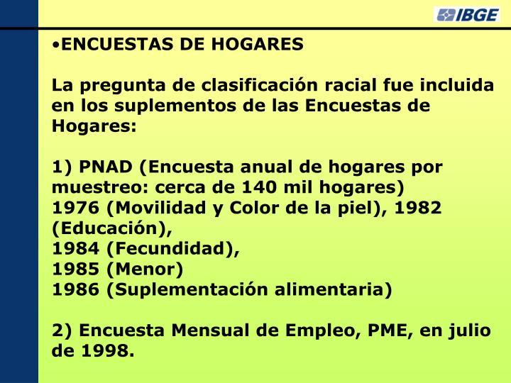 ENCUESTAS DE HOGARES