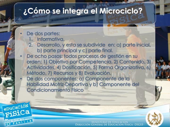 ¿Cómo se integra el Microciclo?