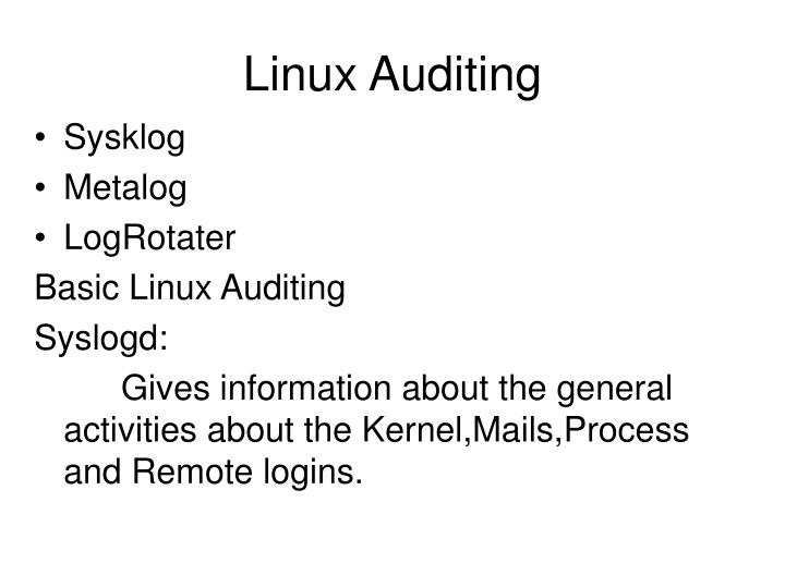 Linux Auditing