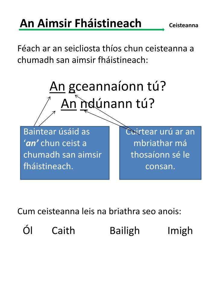 An Aimsir Fháistineach