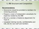 1 irb structure and composition2