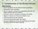 3 completeness of the review process1