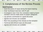 3 completeness of the review process2