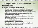3 completeness of the review process6