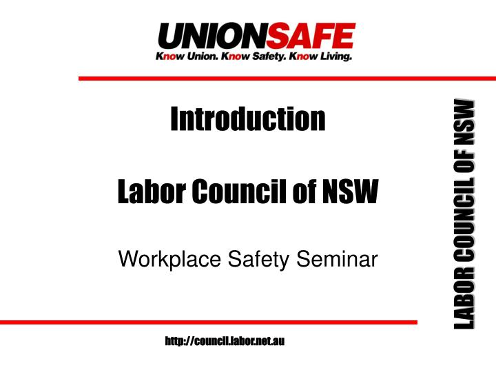 introduction labor council of nsw n.