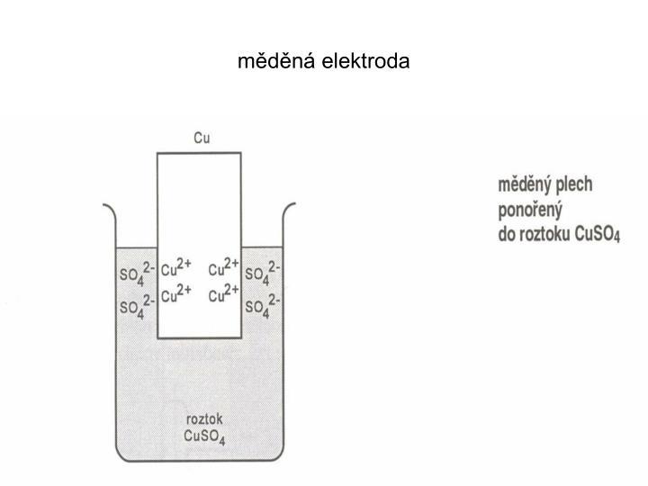 měděná elektroda