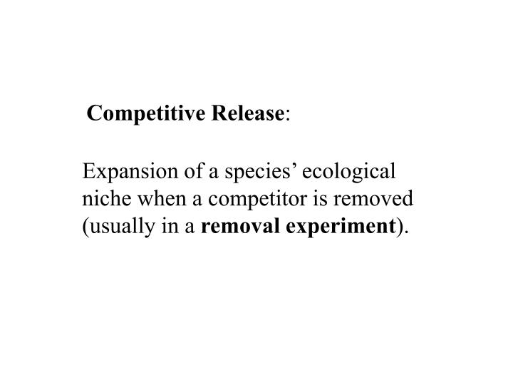 Competitive Release