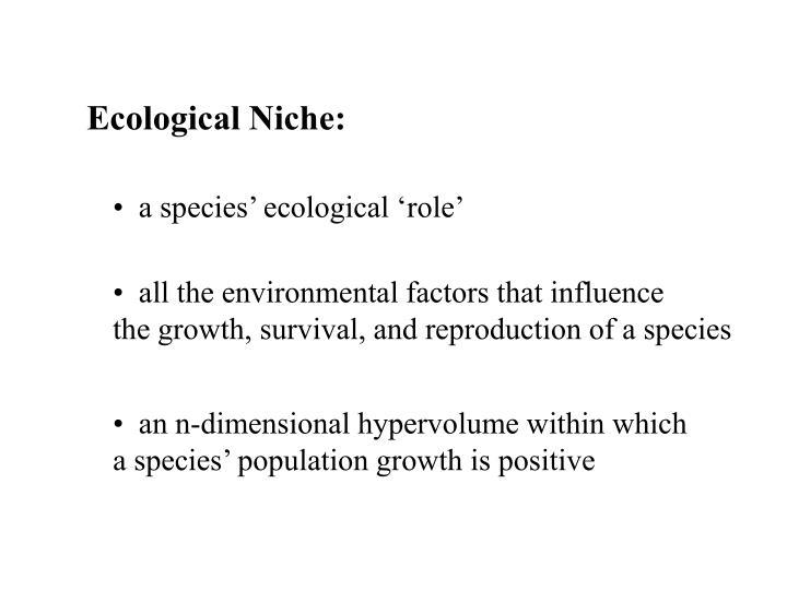 Ecological Niche: