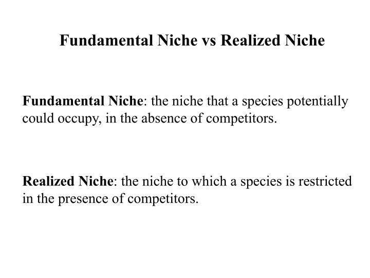 Fundamental Niche vs Realized Niche