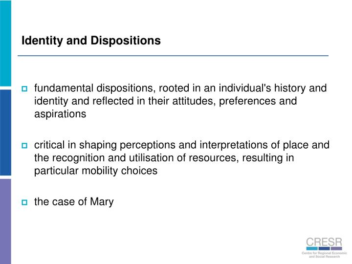 Identity and Dispositions