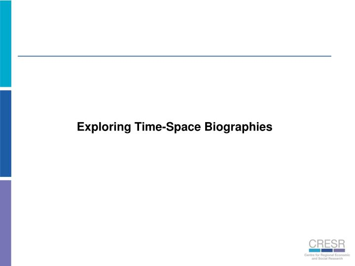 Exploring Time-Space Biographies