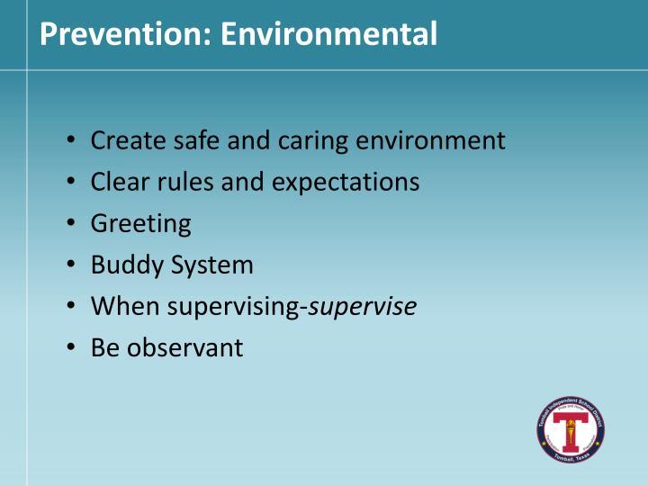Prevention: Environmental
