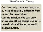 neo orthodox theory1