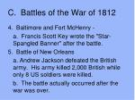 c battles of the war of 18124