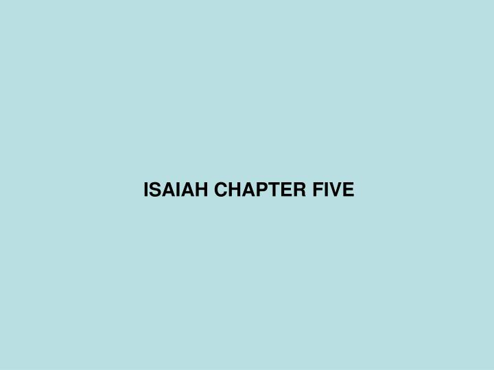 isaiah chapter five n.