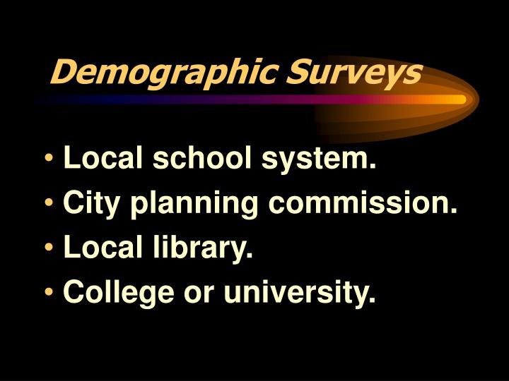 Demographic Surveys