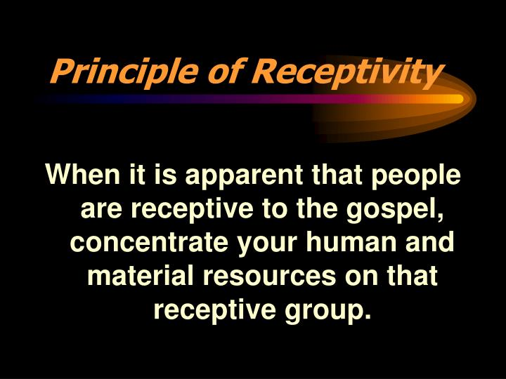 Principle of Receptivity