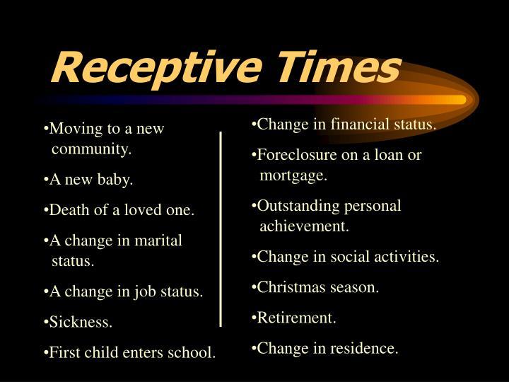 Receptive Times