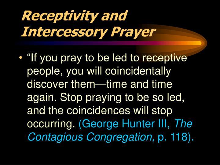 Receptivity and Intercessory Prayer