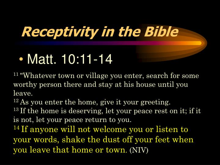 Receptivity in the Bible