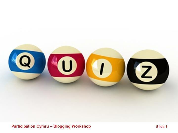 Participation Cymru – Blogging Workshop