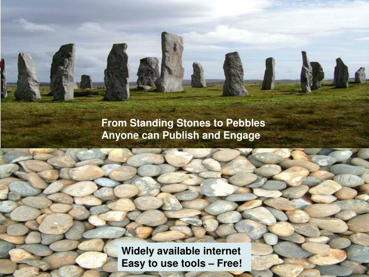 From Standing Stones to Pebbles