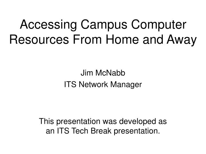 jim mcnabb its network manager n.