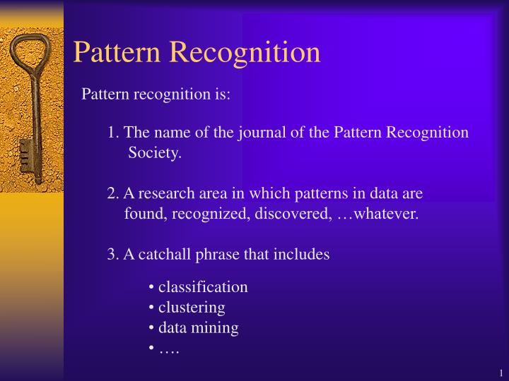 pattern recognition n.