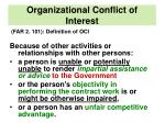 organizational conflict of interest1