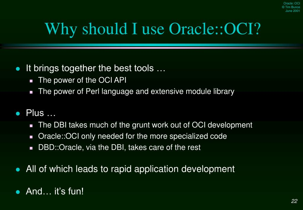 PPT - Oracle::OCI PowerPoint Presentation - ID:5484606