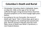columbus s death and burial