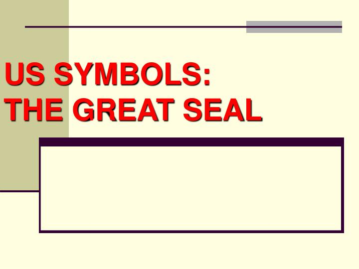 us symbols the great seal