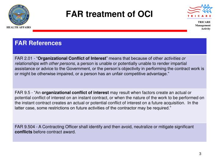 Far treatment of oci