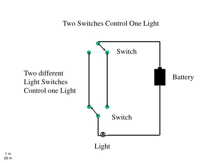 Colorful Two Switches Control One Light Mold - Schematic Diagram ...