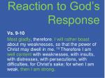 reaction to god s response1