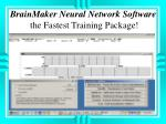 brainmaker neural network software the fastest training package