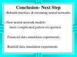 conclusion next step1