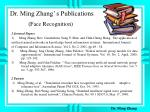 dr ming zhang s publications face recognition