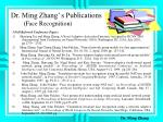 dr ming zhang s publications face recognition1