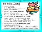 dr ming zhang