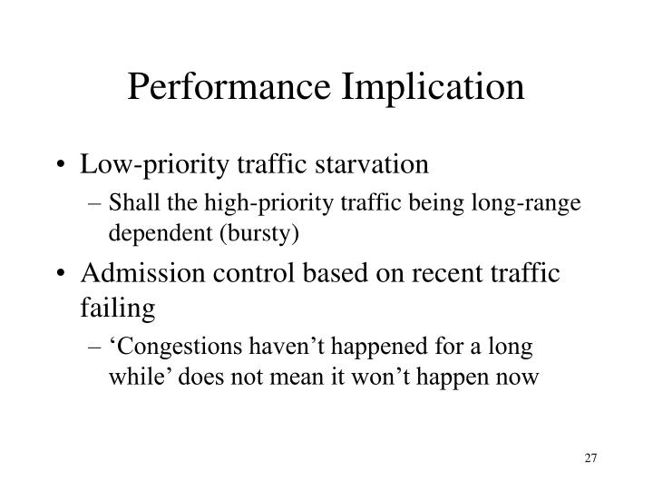 Performance Implication