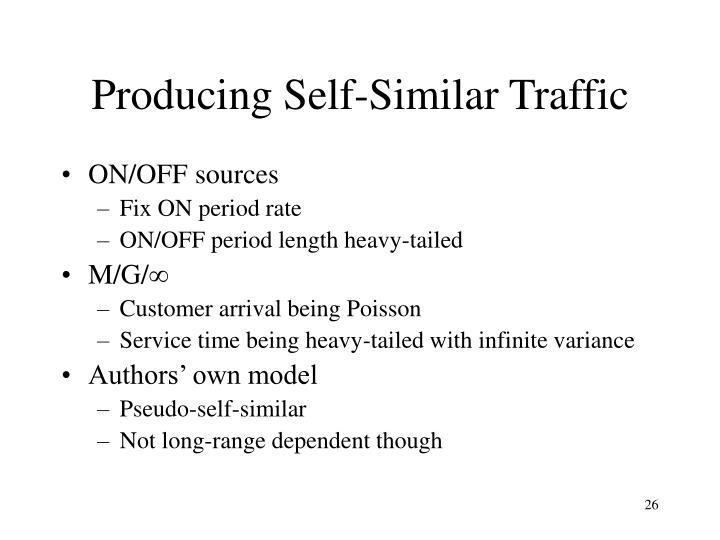 Producing Self-Similar Traffic