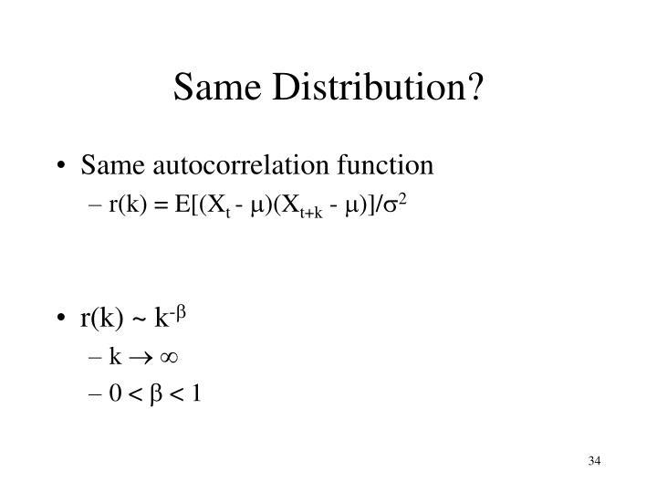 Same Distribution?